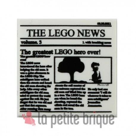 Lego Accessoires Minifig Journal Batman Newspaper THE LEGO NEWS