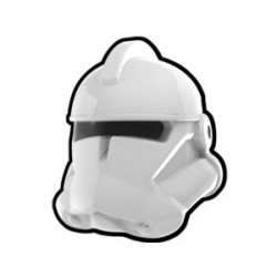 Lego Custom Arealight White Commander Helmet (La Petite Brique)
