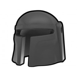 Lego Custom Arealight Dark Gray Mando Helmet (La Petite Brique)