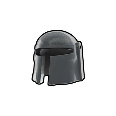 Lego Custom Arealight Silver Mando Helmet (La Petite Brique)