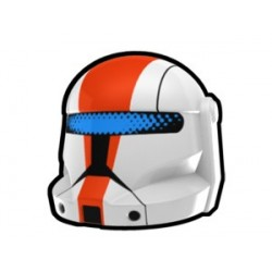Lego Custom Arealight White Commando Boss Helmet (La Petite Brique)