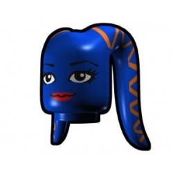 Blue Tentacle Head with Face and Orange Ribbon