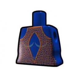 Lego Custom Arealight Torse féminin Bleu avec Robe Orange (La Petite Brique)