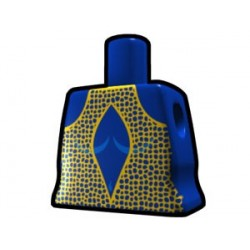 Blue Curved Torso with Yellow Dress