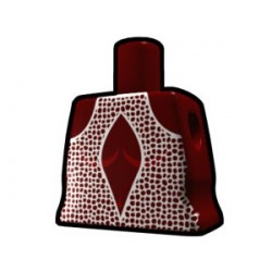 Lego Custom Arealight Torse féminin Rouge foncée avec Robe Blanche (La Petite Brique)