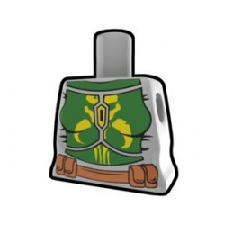 Lego Custom Arealight Torse féminin Gris avec combinaison de bataille verte (La Petite Brique)
