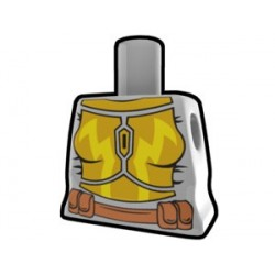 Lego Custom Arealight Torse féminin Gris avec combinaison de bataille jaune (La Petite Brique)