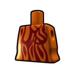 Lego Custom Arealight Torse féminin Orange avec motif à rayures (La Petite Brique)