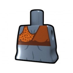 "Lego Custom Arealight Torse féminin ""sand blue"" avec motif Midriff (La Petite Brique)"