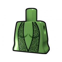 Sand Green Curved Torso with Dancer Dresses Pattern
