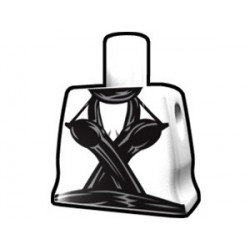 Lego Custom Arealight Torse féminin Blanc avec robe de danseuse (La Petite Brique)