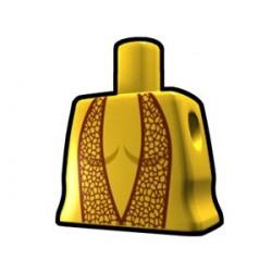 Lego Custom Arealight Torse féminin Jaune avec robe marron (La Petite Brique)