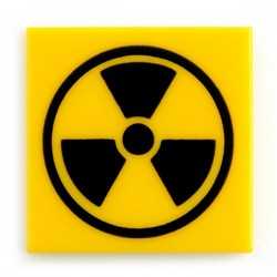 Lego Custom CITIZEN BRICK Radioactive - Tile, 2x2 (La Petite Brique)