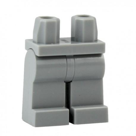 Lego Accessoires Minifig Jambes - gris clair (La Petite Brique)