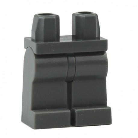 Lego Accessoires Minifig Jambes - gris foncé (La Petite Brique)
