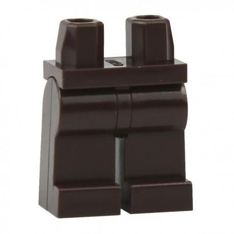 Lego Accessoires Minifig Jambes - marron foncé (La Petite Brique)