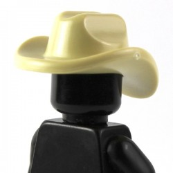 LEGO Brick Warriors Custom - Chapeau Cowboy beige (La Petite Brique)