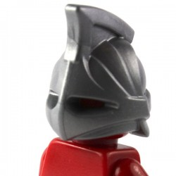 LEGO Brick Warriors Custom - Casque Rhino (Pearl Dark Gray) (La Petite Brique)