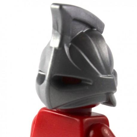 LEGO Brick Warriors Custom - Casque Rhino (Pearl Dark Gray) (La Petite Brique)