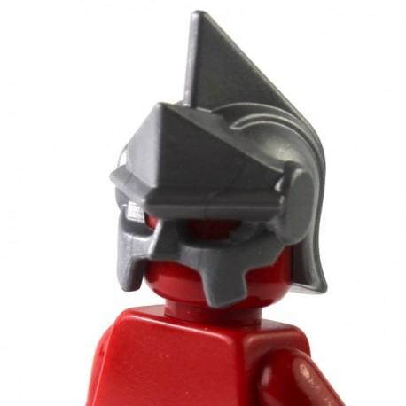 LEGO Brick Warriors Custom - Casque Céleste (Pearl Dark Gray) (La Petite Brique)