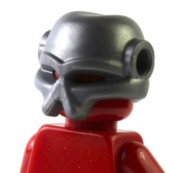 LEGO Brick Warriors Custom - Casque Envahisseur (Pearl Dark Gray) (La Petite Brique)