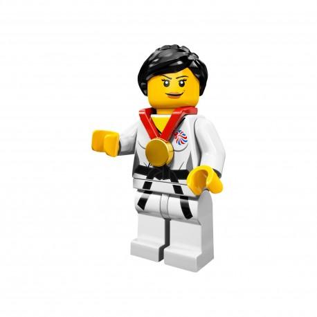 LEGO Minifig 8089 - la femme Judoka J.O. Londres 2012 (La Petite Brique) Team GB Olympics