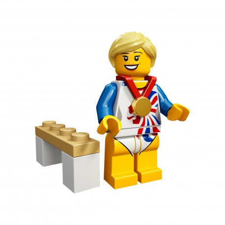 LEGO Minifig 8089 - la gymnaste J.O. Londres 2012 (La Petite Brique) Team GB Olympics