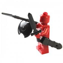 Lego Si-Dan Toys Spartiate : lance (noir) (La Petite Brique)
