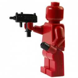 Lego Si-Dan Toys Mini-UZI + Silencieux (pistolet mitrailleur) (La Petite Brique)