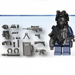 Lego Si-Dan Toys S.W.A.T. A-Team Pack (15 pièces) (noir) (La Petite Brique)