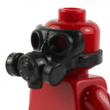 Lego Si-Dan Toys Masque à gaz v2 (noir) (La Petite Brique)