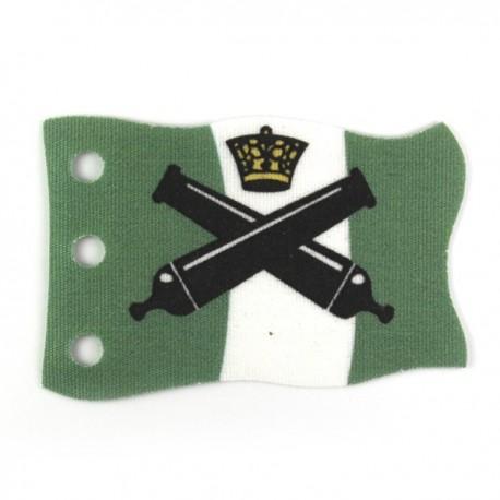 Lego Custom CAPEMADNESS Drapeau vert avec canons et couronne (La Petite Brique)