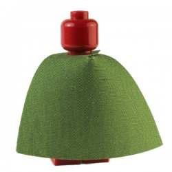 "Lego Custom CAPEMADNESS minifig Cape standard ""Elf Green"""
