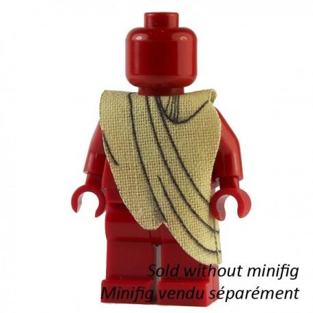 Lego Custom CAPEMADNESS Minifig - Toge (beige) (La Petite Brique)