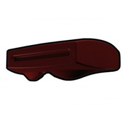 Dark Red Phase II Binocular Visor