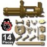Minigun + Trépied & accessoires (mitrailleuse) (beige foncé)