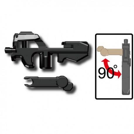 Lego Custom Minifig SI-DAN P90 (noir) (La Petite Brique)