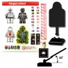 Lego Custom Minifig SI-DAN Cible / Target et Stickers (noir) (La Petite Brique)