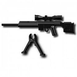 Lego Custom Minifig SI-DAN PSG1 + Gun bipod (N41) (noir) (La Petite Brique)