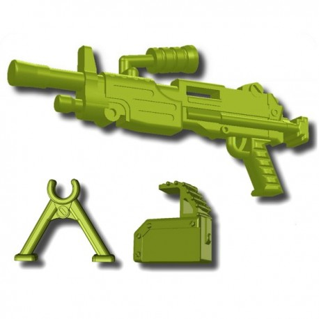 "Lego Custom Minifig SI-DAN M249 Minimi (Mini-mitrailleuse) Vert ""Tank"" (La Petite Brique)"
