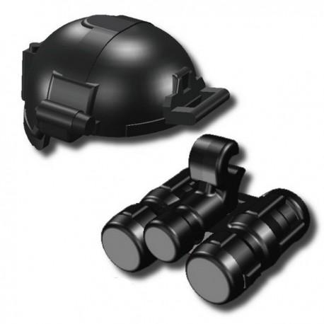 Lego Custom Minifig SI-DAN Casque BK1X + Night Vision (SD-23) (noir) (La Petite Brique)