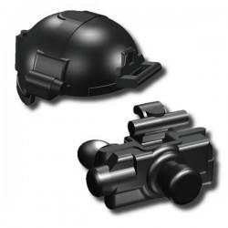 Lego Custom Minifig SI-DAN Casque BK1X + Night Vision (SD-21) (noir) (La Petite Brique)