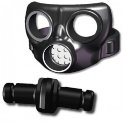 Gas mask and canister v2 (black)