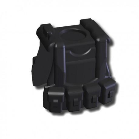 Lego Custom Minifig SI-DAN Tactical Vest B12 (noir) (La Petite Brique)