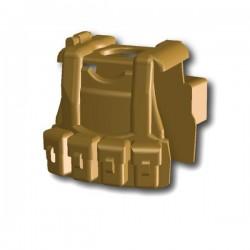 Lego Custom Minifig SI-DAN Tactical Vest B12 (beige foncé) (La Petite Brique)