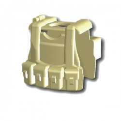 Lego Custom Minifig SI-DAN Tactical Vest B12 (beige) (La Petite Brique)