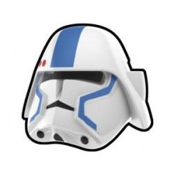 Lego Custom Minifig Arealight Casque White Bacara Commander Blue (La Petite Brique) Star Wars
