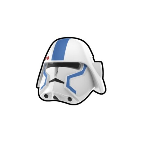 Lego Custom Minifig Arealight Casque White Bacara Commander Blue (La Petite Brique) Star Wars