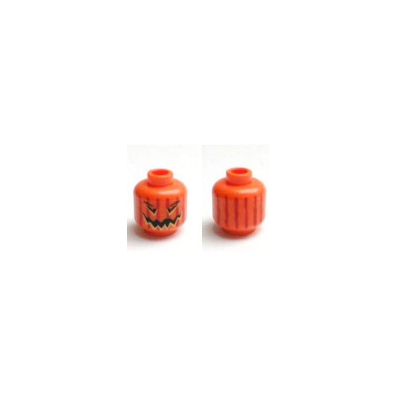 T te de citrouille la petite brique le sp cialiste de la minifigure lego et du custom - Tete de citrouille ...