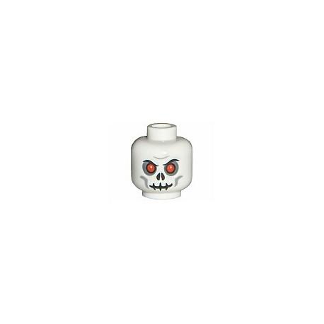 Tête : Squelette aux yeux rouges